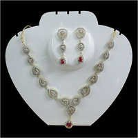 Designer American Diamond Necklace Set