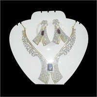 Silver American Diamond Pendant