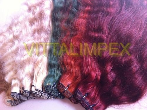 Machine Weft Colored Straight Hair