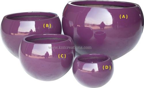Spherical Glass Planter