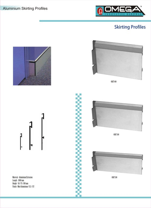 Aluminium Skirting Profiles