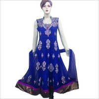 Fully Embroidered Long Anarkali