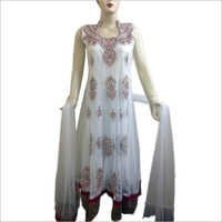 Embroidered Long Anarkali Suit