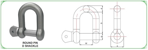 Mild Steel D-Shackle