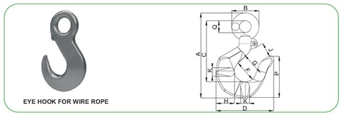 Eye Hook for Wire Rope Application
