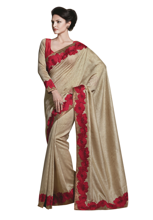 Faux Dupion Saree
