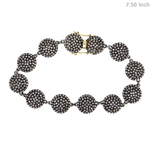 Pave Diamond Link Connector Bracelet