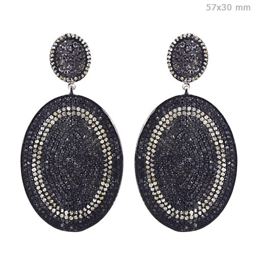 Gold Pave Diamond Earrings