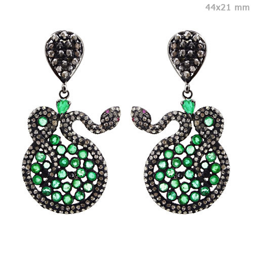 Gemstone Diamond Fashion Earrings