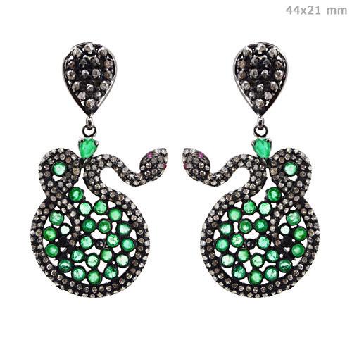 Gemstone Diamond Fashion Earrings