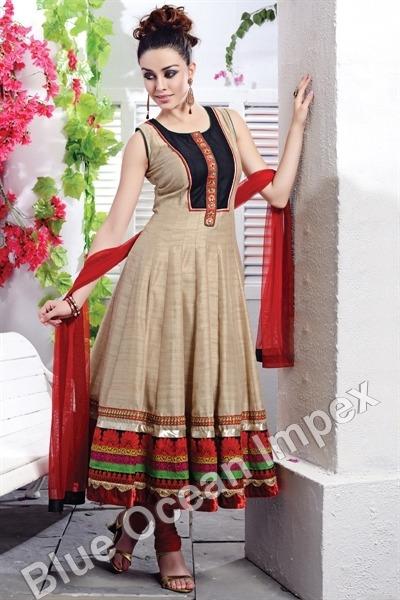 Silk Anarkali Dress