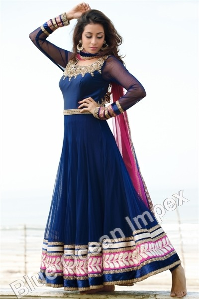 Velvet Anarkali Designer Dress