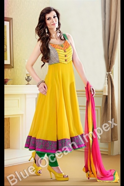 Yellow Anarkali Dress