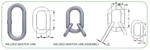 Master Oblong Ring Assembly WELDED