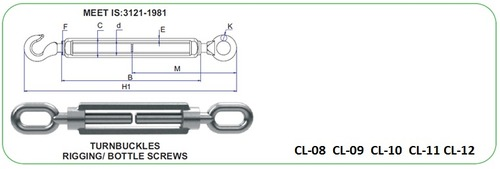 Turn buckle Bottle Screw Type