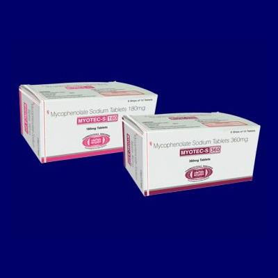 Mycophenolate Sodium Tablets 180 mg