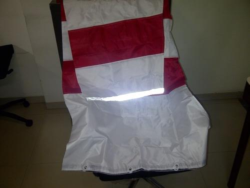 RED & WHITE Nylon (Parachute Fabrik) – P.U Coated