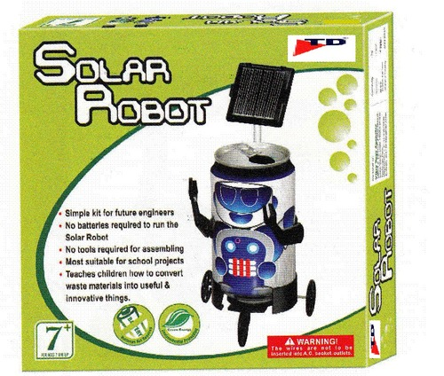 SOLAR ROBOT (Age-7+, Pkg-6pcs/ctn)