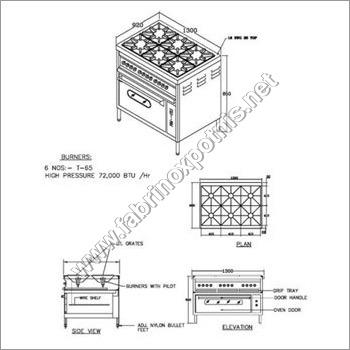 6  Burner Gas Range With Ovens