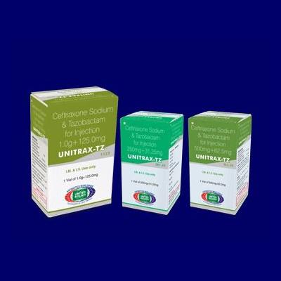 Ceftriaxone Sodium + Tazobactam: 1g+125mg Vials