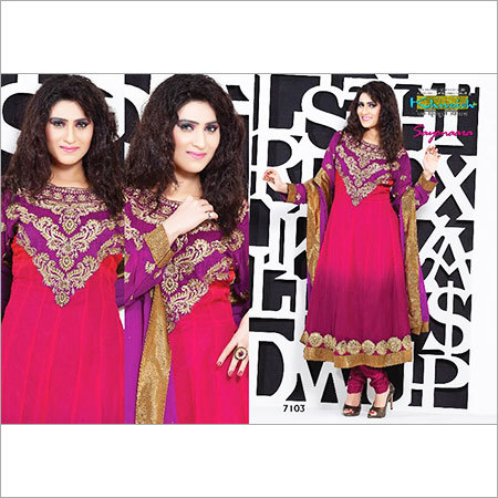 Featuring Pretty Neckline Embroidery Suit