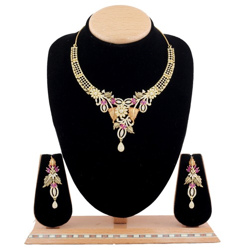 AD Antique Ruby Necklace Sets