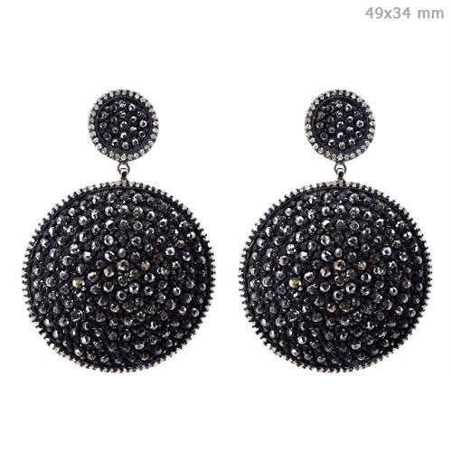 Diamond Disc Earrings Jewelry