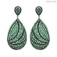 Emerald Diamond Earrings Jewelry