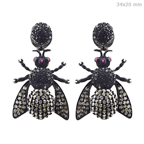 Diamond Pave Insect Earrings