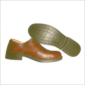 Brown Leather Safety Shoe