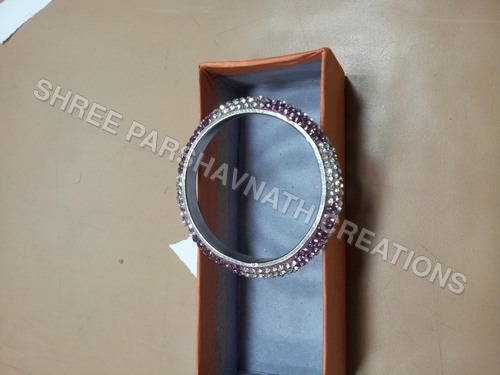 Purple Silver Color Bangles