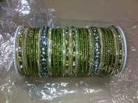 Green color designer bangles sets
