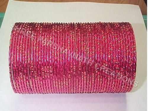 Color Dotted Aluminum Bangles