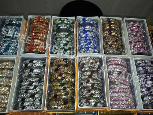 Multi Color Stone Bangles