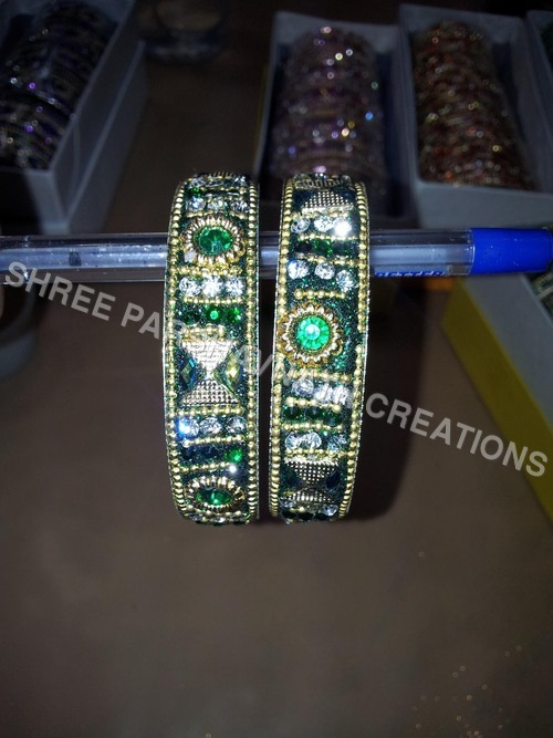 Green Color Rowdy Stone Kada
