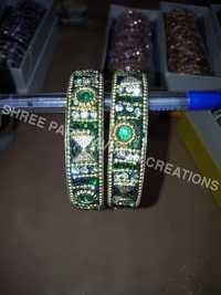 Green Color Rowdy Stone Kada