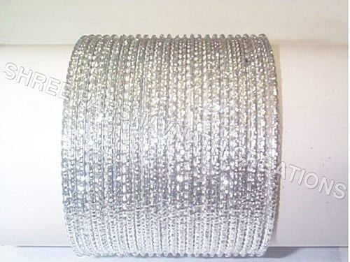 Silver Glitter Bangles