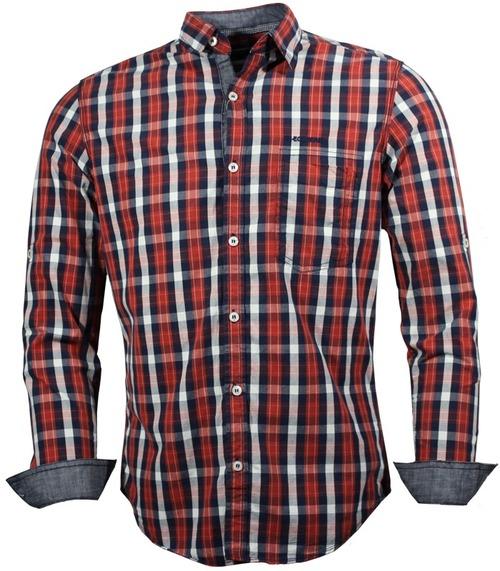 Red - Blue Check Shirt