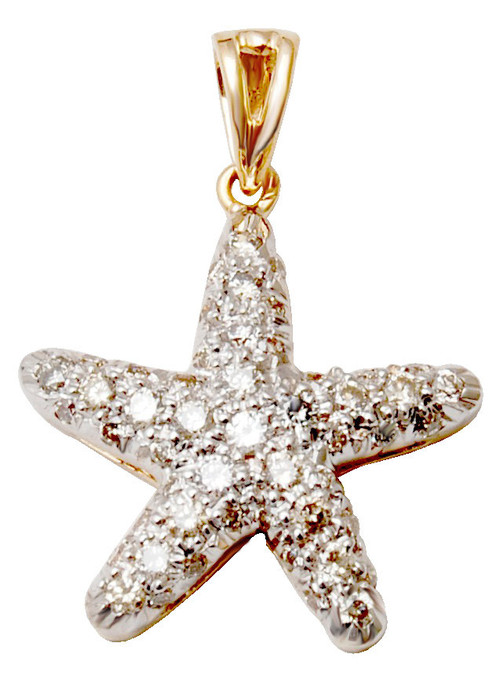 Plated gold small diamond star pendant for fashion ladies, Pendant New designer Charm Pendant