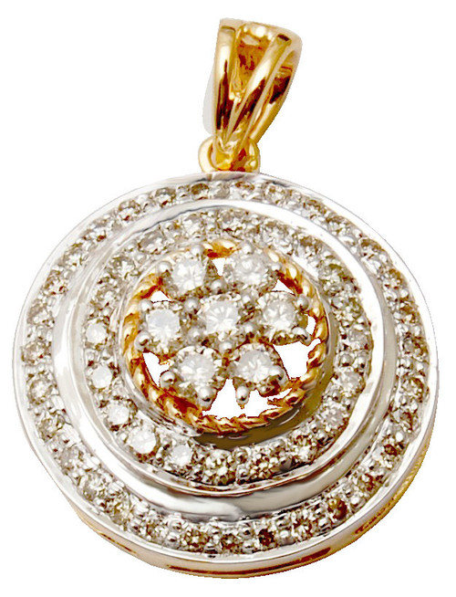 Hot sell new design round diamond pendant design, round pendant design in diamond