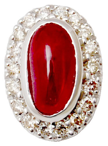 Carved Ruby Diamond Pendants, Handcrafted Gemstone Christmas Pendants