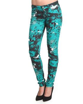 Green Printed Pant