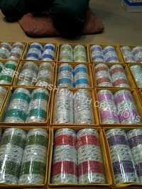 Silver color bangles sets