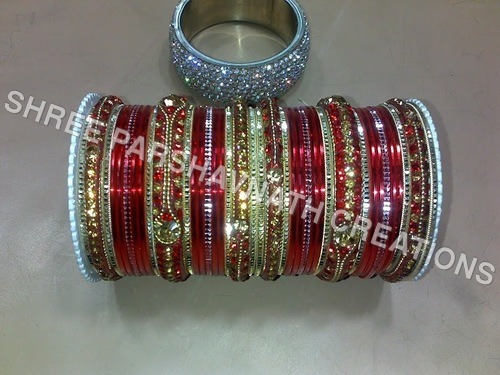 Red Color Designer Bangles Sets