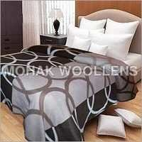 Circle Printed Polar Fleece Blanket