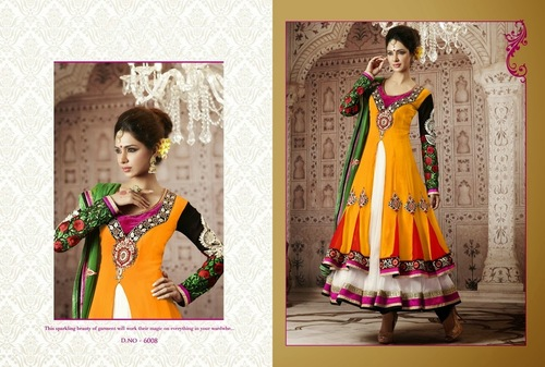 Double Layer Anarkali Salwar Suit