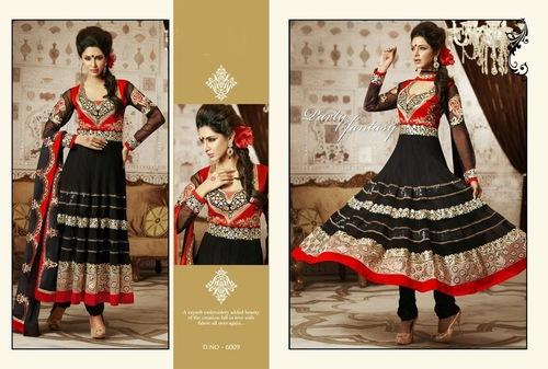 Black Designer Anarkali Salwar Kameez