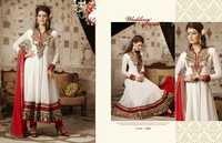 Designer White Anarkali Salwar Kameez