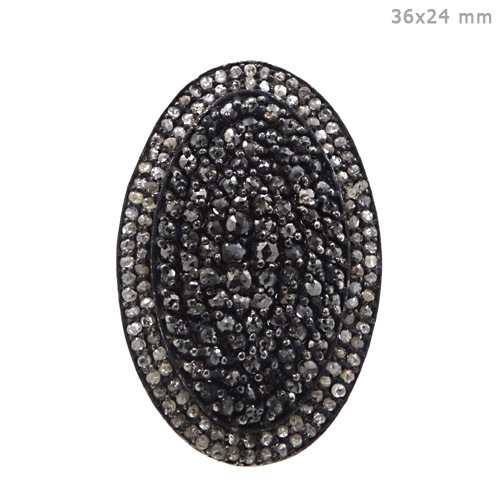 Sterling Silver Pave Diamond Gold Ring
