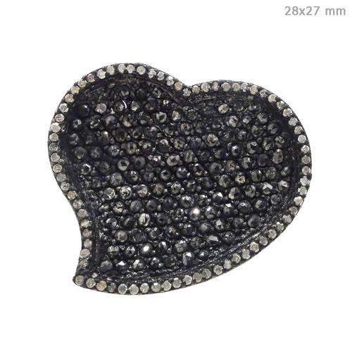 Pave Diamond Heart Shape Ring